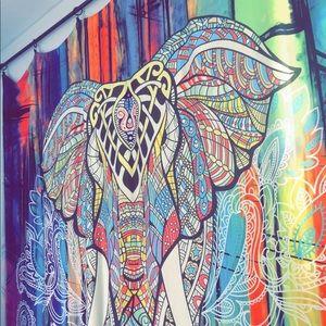RAINBOW ELEPHANT TAPESTRY